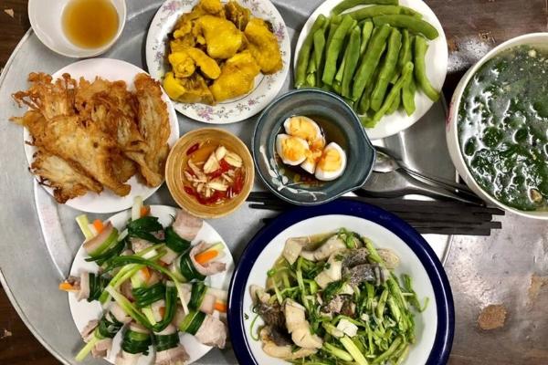 Mâm cơm ngon lành bổ dưỡng cho ngày hè