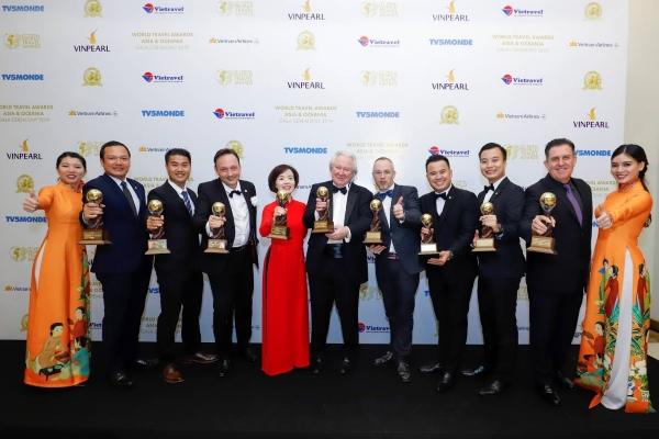 Vinpearl tạo nên kỷ lục tại Giải thưởng Du lịch Thế giới châu Á và châu Đại Dương 2019