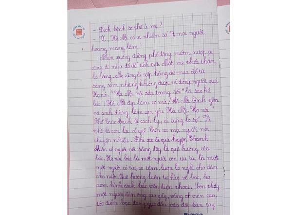Bé gái 7 tuổi viết thư gửi Phó Thủ tướng Vũ Đức Đam