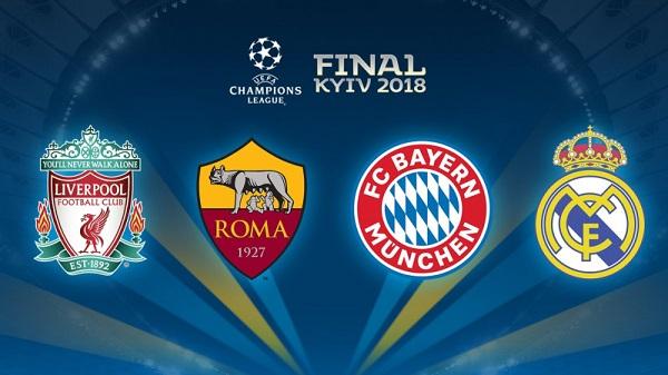 Lịch thi đấu bán kết Champions League 2017/18