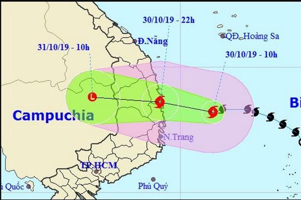 Bão số 5 giật cấp 11-12 mưa lớn ở nhiều khu vực