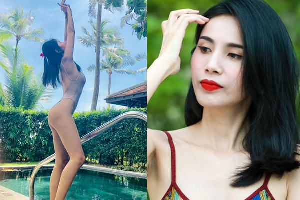 Diện bikini một mảnh, Thủy Tiên tự tin khoe dáng 'gái một con'