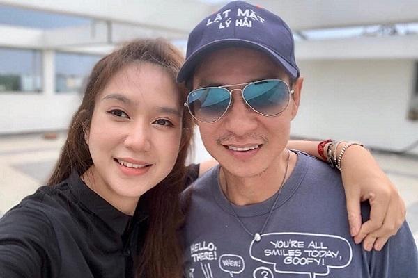 Minh Hà ra phim trường thăm chồng, hỗ trợ và quản lý ê-kíp thay cho Lý Hải