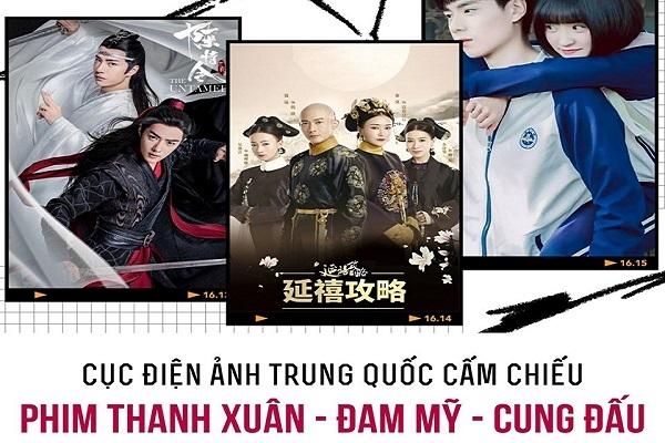 Trung Quốc chính thức cấm chiếu phim cung đấu, tình dục và đam mỹ