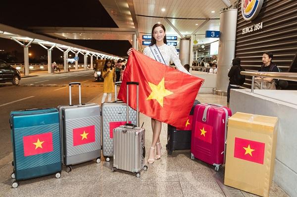 Lương Thuỳ Linh mang 140 kg hành lý sang Anh dự thi 'Miss World 2019'
