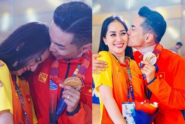 Khánh Thi xúc động, bật khóc trước chiến thắng của Phan Hiển tại SEA Games 30