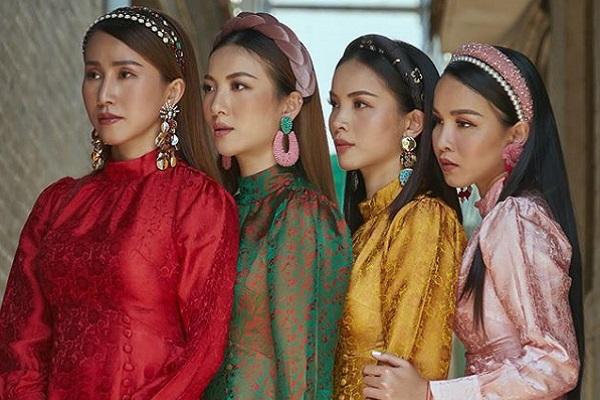 Đội hình Mây Trắng tái ngộ, cùng khoe sắc trong tà áo dài Việt