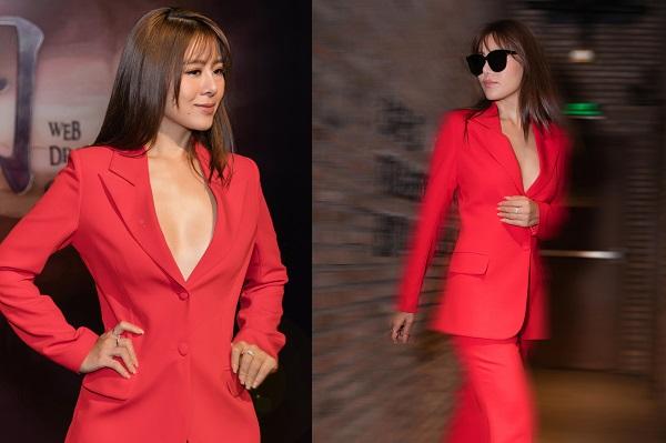 Diện menswear thanh lịch, Nam Thư trở thành tiêu điểm chú ý tại sự kiện