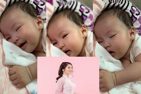3 tháng tuổi, con gái Lê Phương có biểu cảm siêu đáng yêu