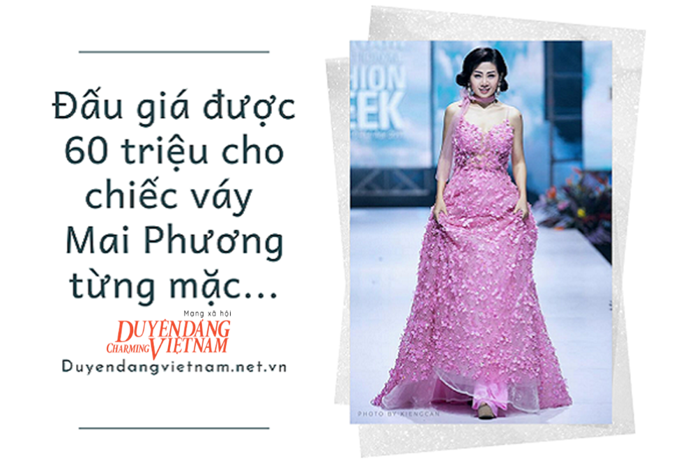 Chiếc váy Mai Phương từng mặc được đấu giá 60 triệu, gây quỹ cho bé Lavie