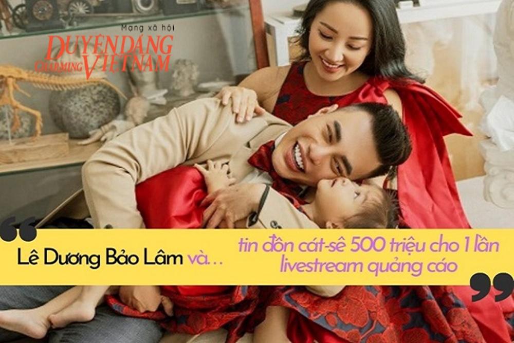 Lê Dương Bảo Lâm lên tiếng về tin đồn cát-sê nửa tỉ cho 1 lần livestream quảng cáo