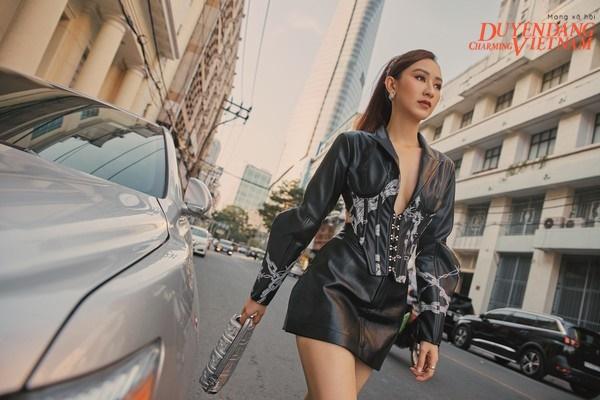 Á hậu Hà Thu biến hoá với gu thời trang đa phong cách