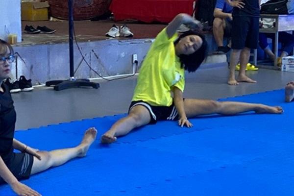 H'Hen Niê tích cực luyện tập võ thuật cho vai diễn hành động