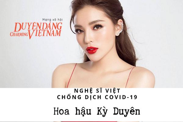 Nghệ sĩ Việt chống dịch Covid-19: Hoa hậu Kỳ Duyên ủng hộ đồ bảo hộ, nước rửa tay