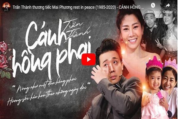 Trấn Thành tiếc thương hát 'Cánh hồng phai' để nhớ Mai Phương