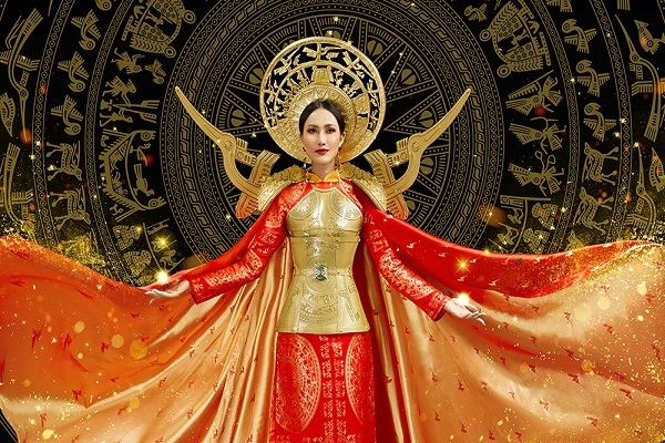 Ngắm quốc phục Hoài Sa mang đến Miss International Queen 2020