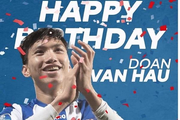 Văn Hậu được CLB Hà Lan và đồng đội chúc mừng sinh nhật tuổi 21