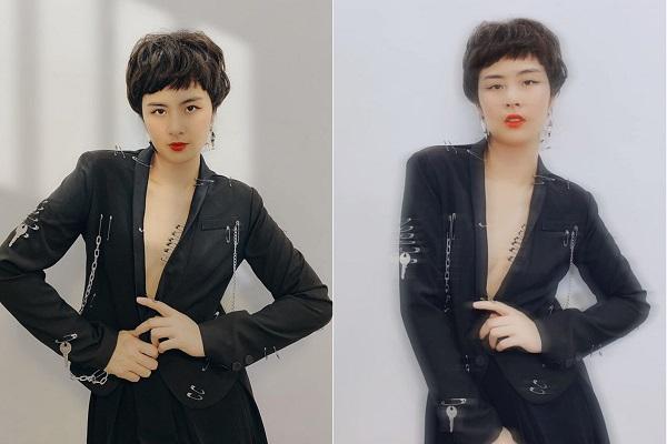 Bất ngờ với hình ảnh khác lạ của Hoa hậu Ngọc Hân