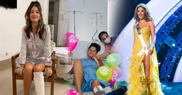 Hoa hậu Colombia 2011 mất 1 chân vì biến chứng phẫu thuật