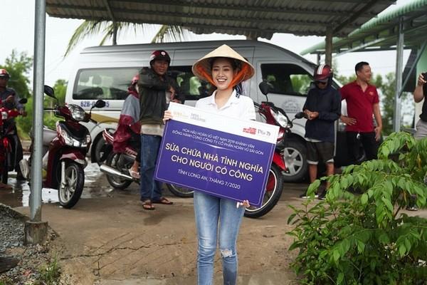 Hoa hậu Khánh Vân tiếp tục các dự án thiện nguyện tại Long An