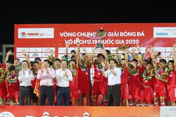 PVF đăng quang chức vô địch U.19 Quốc gia trên sân nhà