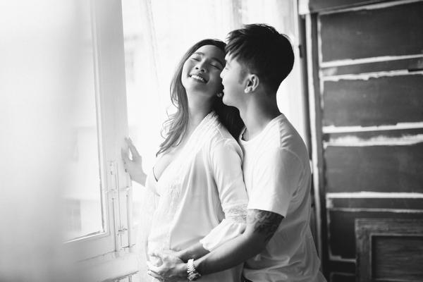 Đang mang thai, Kim Cương vẫn gợi cảm bên Ưng Hoàng Phúc
