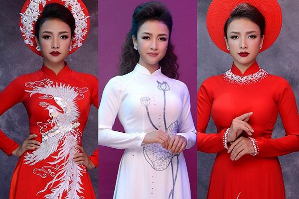 Giảm 17kg sau sinh, Lê Bê La tự tin làm người mẫu áo dài