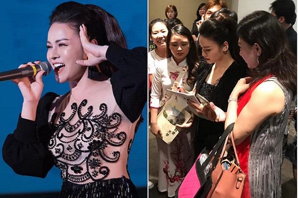 Nhật Kim Anh lưu diễn ở Nhật, fans vây quanh xin chữ ký
