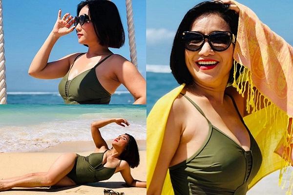 Cát Tường diện bikini, tự tin khoe vóc dáng ở tuổi 42