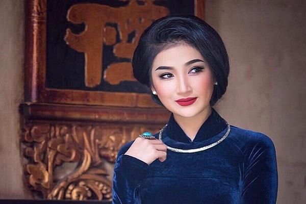 Quỳnh Lam nền nã với áo dài, khoe vẻ đẹp Á Đông thuần khiết