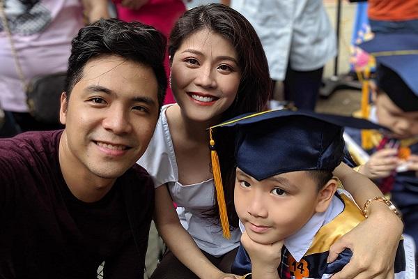 Con trai Thanh Phương - Huy Luân điển trai trong ngày tốt nghiệp mẫu giáo