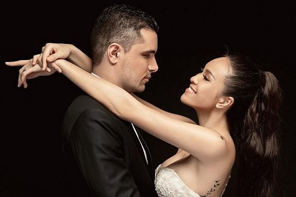 Ảnh cưới ngọt ngào của Phương Mai và chồng Tây
