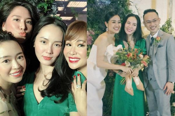 Phương Linh đi ăn cưới MC Phí Linh, nhan sắc không thua kém cô dâu
