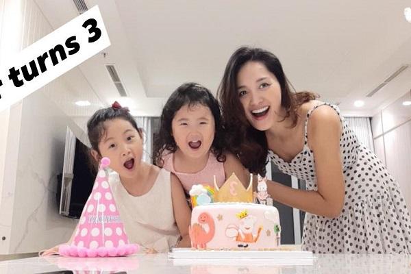 Mừng sinh nhật con gái, Hương Giang tiết lộ 2 công chúa siêu đáng yêu