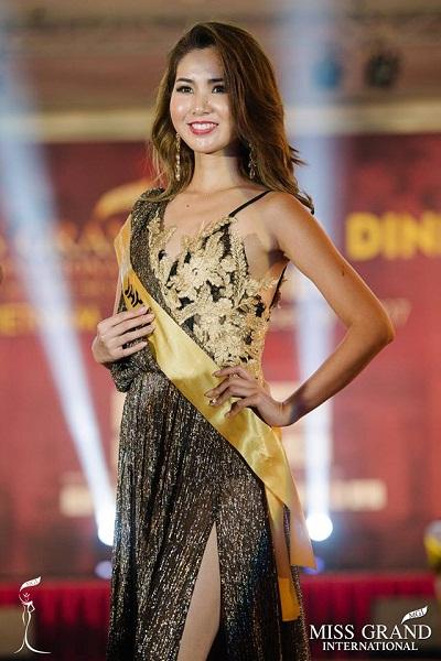 Hoa hậu Nhật Bản diện váy dạ hội giá 'khủng' tại Miss Grand
