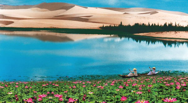 Thả mình vào gió giữa những đồi cát trắng tinh ở Bình Thuận