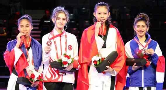 Tin vui từ bộ môn Taekwondo Hồ Thị Kim Ngân đã mang HCV giải trẻ thế giới về đội nhà
