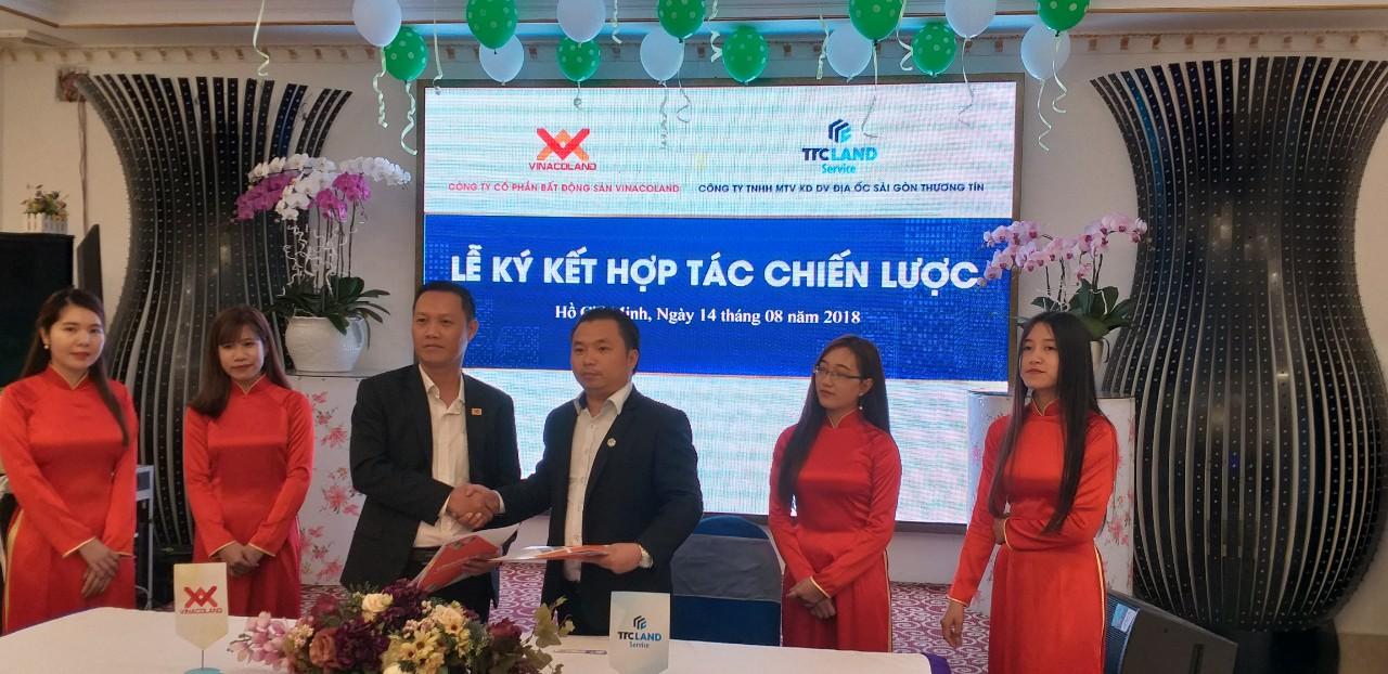 Bắt tay giữa Vinacoland và TTC Land phát triển các dự án bất động sản