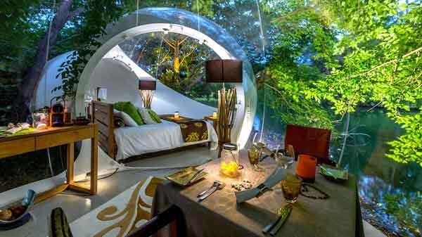 Hoà hợp với thiên nhiên trong những khách sạn bong bóng độc đáo