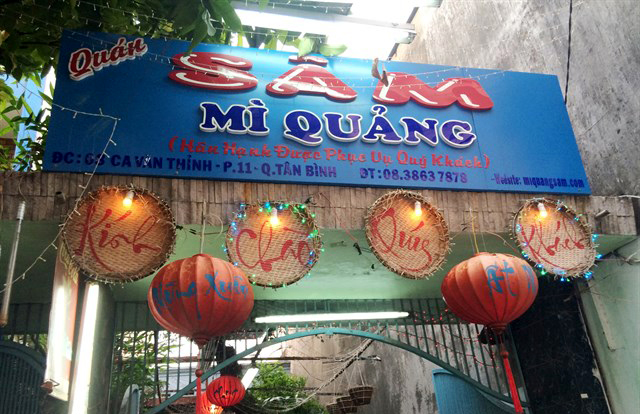 Mì Quảng Sâm đậm đà hương vị miền Trung