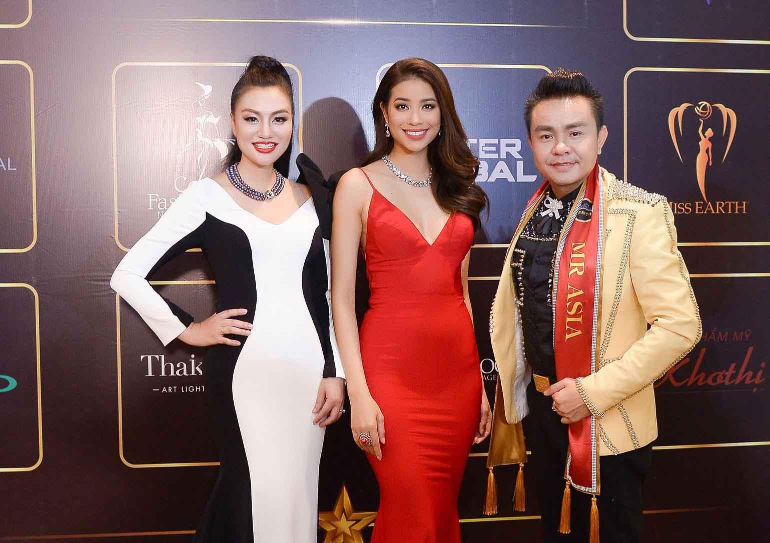 Nữ hoàng Trần Huyền Nhung 'đọ sắc' cùng dàn sao Việt dự event của Nam Vương Ngọc Tình