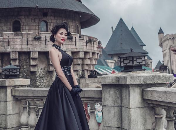 """Nữ Hoàng sắc đẹp Trần Huyền Nhung hoá """"công nương Paris"""" trong gam màu huyền diệu của NTK Tuấn Hải"""