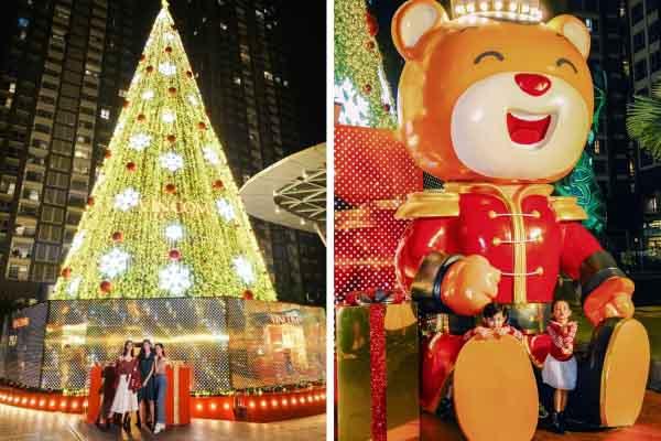 """Giới trẻ Sài Gòn hào hứng với cây thông """"siêu to khổng lồ"""" và cây thông """"biết bay"""""""