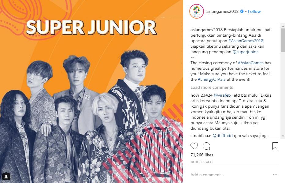 """Super Junior và iKON sẽ """"đốt cháy"""" sân khấu lễ bế mạc ASIAD 2018"""