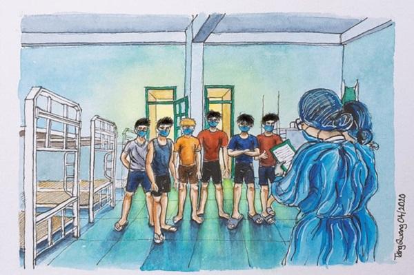 Những bức vẽ truyền đi ấm áp cho người xem trước sự khủng khiếp của COVID-19
