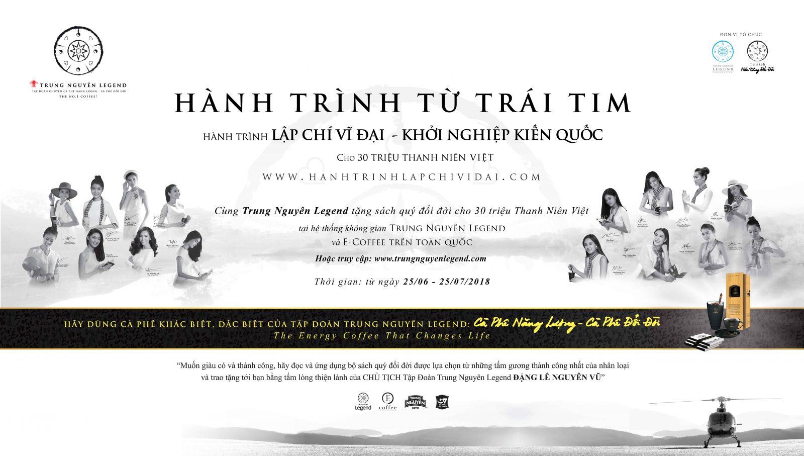Cùng Trung Nguyên Legend tặng sách quý đổi đời cho 30 triệu thanh niên Việt