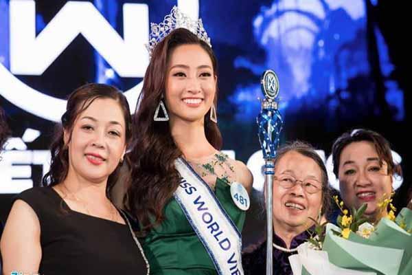 Mẹ của tân hoa hậu Thùy Linh là giám đốc kho bạc, bố là sĩ quan
