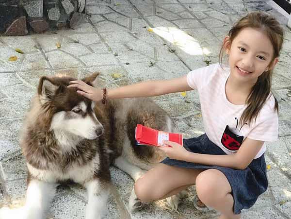 Con gái Ngọc Diễm lấy tiền lì xì mua thú cưng