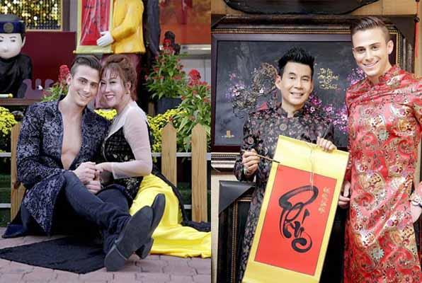 Đoan Trường, Phi Thanh Vân ra phố Tết cùng mỹ nam ngoại quốc