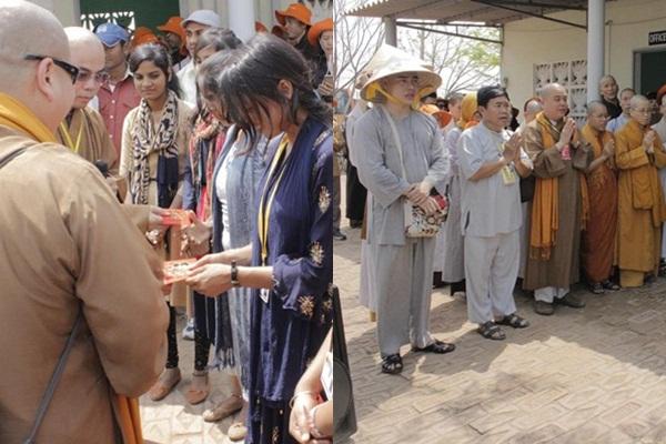 Lê Dương Bảo Lâm làm từ thiện, được yêu mến ở Ấn Độ